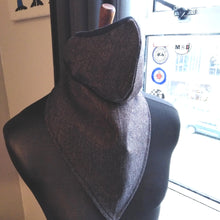Load image into Gallery viewer, HERRINGBONE WOOL FACE AND NECK SCARF SET