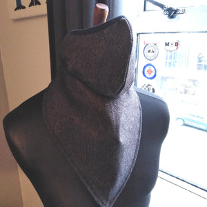 HERRINGBONE WOOL FACE AND NECK SCARF SET