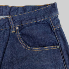 Load image into Gallery viewer, STRAIGHT FIT DARK BLUE DENIM JEANS