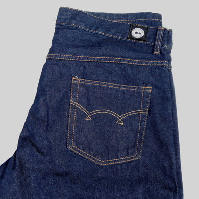 STRAIGHT FIT DARK BLUE DENIM JEANS