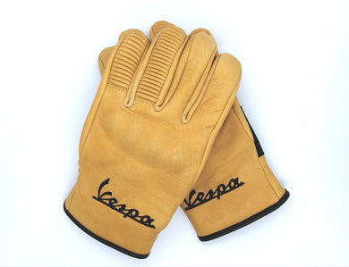 VESPA LEATHER ITALIAN SCOOTER GLOVES