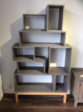 Load image into Gallery viewer, Contemporary Grey Solid Timber Vinyl Storage system