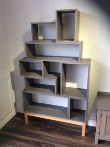 Contemporary Grey Solid Timber Vinyl Storage system