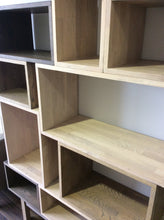 Load image into Gallery viewer, Contemporary Light Grey Solid Timber Vinyl Storage system