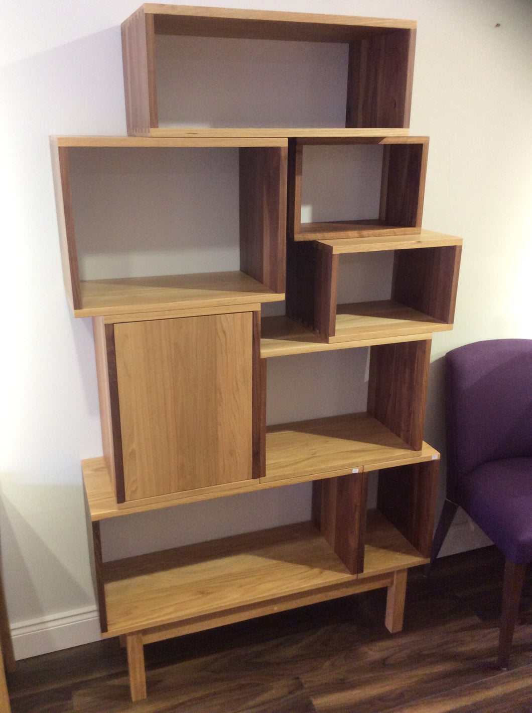 Solid Walnut / Oak Vinyl Storage Sytem