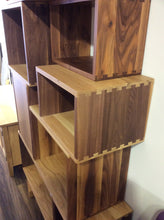 Load image into Gallery viewer, Solid Walnut / Oak Vinyl Storage Sytem