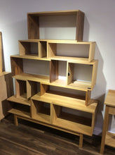 Load image into Gallery viewer, Solid Oak Walnut Vinyl Storage System