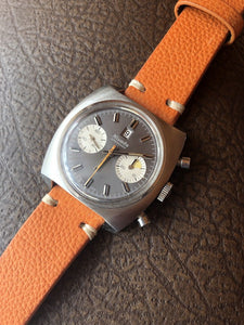 Vintage All Steel Nivada Grenchen Chronograph Landeron 187 36,5mm