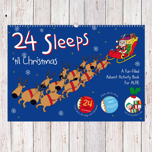 24 Sleeps 'til Christmas Personalized Book - IsleOfGifts