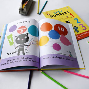 Personalized Arty Mouse Numbers Activity Book - IsleOfGifts