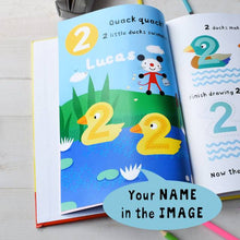 Load image into Gallery viewer, Personalized Arty Mouse Numbers Activity Book - IsleOfGifts
