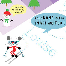 Load image into Gallery viewer, Personalized Arty Mouse Tracing Activity Book - IsleOfGifts