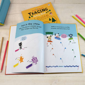 Personalized Arty Mouse Tracing Activity Book - IsleOfGifts