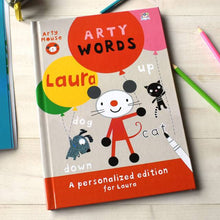 Load image into Gallery viewer, Personalized Arty Mouse Learning Words Activity Book - IsleOfGifts