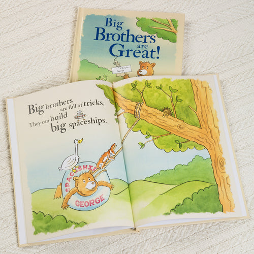 Big Brothers are Great Personalized Book - IsleOfGifts
