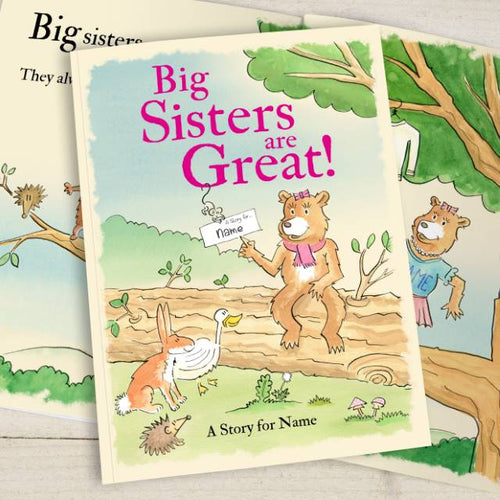 Big Sisters are Great Personalized Book - IsleOfGifts