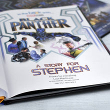 Load image into Gallery viewer, Black Panther Personalized Marvel Story Book - IsleOfGifts