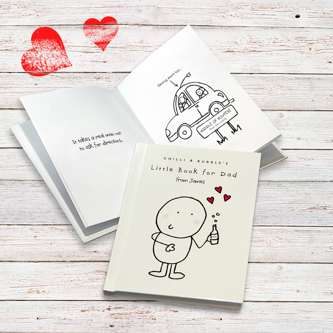Chilli & Bubble Personalized Book For Dad - IsleOfGifts