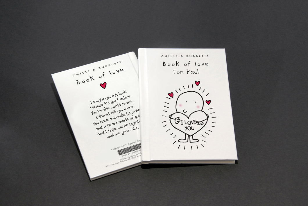 Chilli and Bubble's Personalized Book of Love - IsleOfGifts
