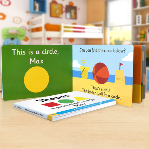 First Steps Shapes Board Book for Toddlers - IsleOfGifts