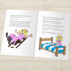 Goldilocks Three Bears Fairy Tale Book - IsleOfGifts