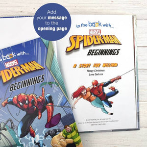 Spider-man Beginnings Personalized Marvel Story Book - IsleOfGifts