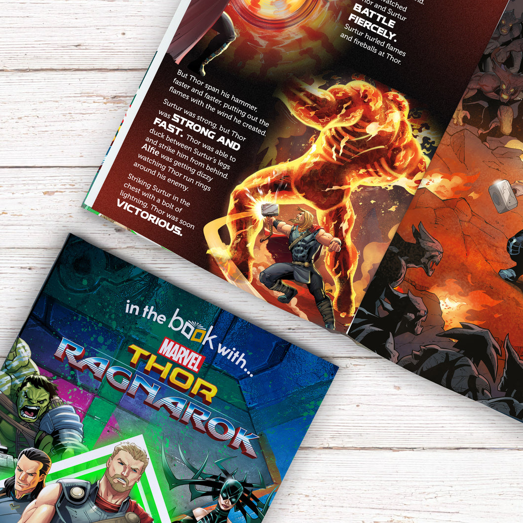 Thor Ragnarok Personalized Marvel Story Book - IsleOfGifts