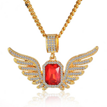 Load image into Gallery viewer, Gold Plated Angel Wings Pendants Necklace - IsleOfGifts