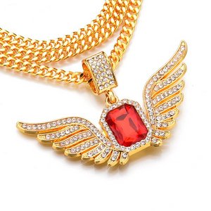 Gold Plated Angel Wings Pendants Necklace - IsleOfGifts