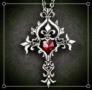 Vampire Diaries Red Cross Necklace