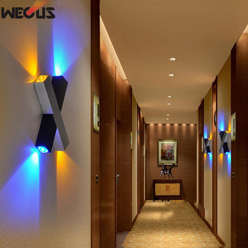 X-shaped LED wall lamps
