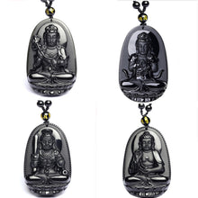 Load image into Gallery viewer, Rear Black Obsidian Buddha High Quality Pendant - IsleOfGifts