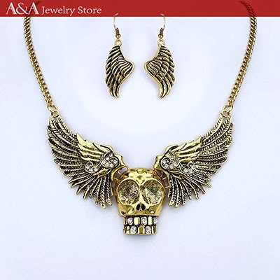 Necklaces with Skull and Angel Wings - IsleOfGifts