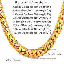 Load image into Gallery viewer, Cuban link chain necklace for boys 9MM - IsleOfGifts