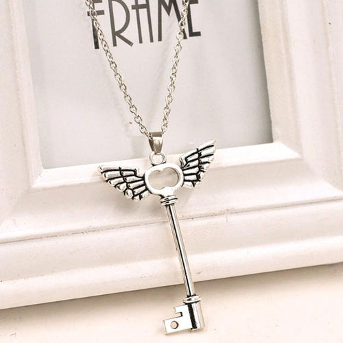 Angel wings Key Friendship Pendant - IsleOfGifts