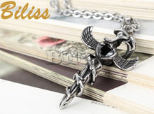 Load image into Gallery viewer, Angel Wing Cross Pendant - IsleOfGifts