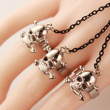 Load image into Gallery viewer, Retro Wolf Skull Leather Bracelet - IsleOfGifts