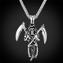 Load image into Gallery viewer, Skull Sword Gothic Occult Pendant - IsleOfGifts