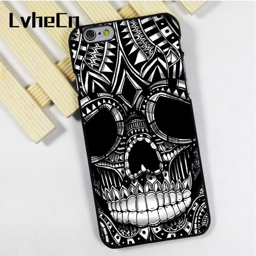 iPhone Case with Skull ornate head Gothic graphic - IsleOfGifts