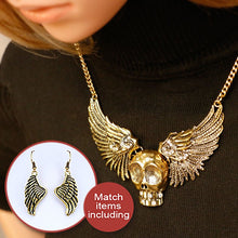Load image into Gallery viewer, Necklaces with Skull and Angel Wings - IsleOfGifts