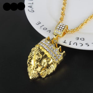 Best Selling Iced Out Cuban Chain with Lion Personality Pendent - IsleOfGifts
