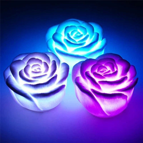 3pcs Led String Rose Flower Lights for Holiday, Wedding Party, Christmas & Room Decor - IsleOfGifts