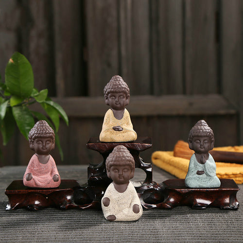 Mini Buddha statue monk - IsleOfGifts