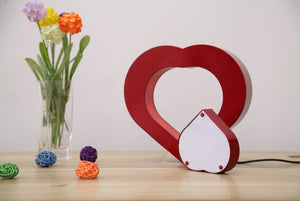 Floating Red Heart Magnetic Levitation Pictures Frame - IsleOfGifts