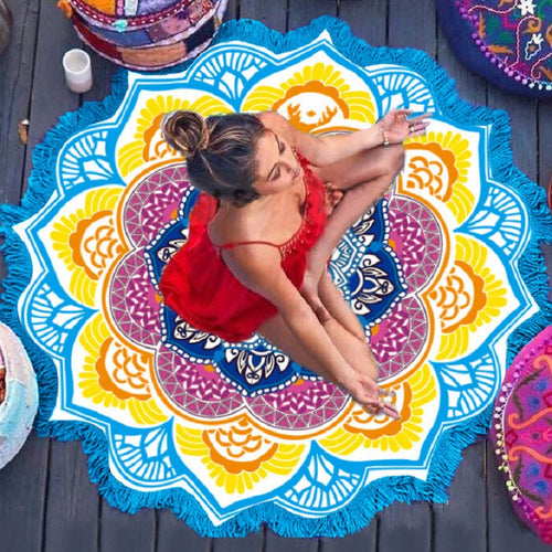 Beach Yoga Mat /Towel - IsleOfGifts