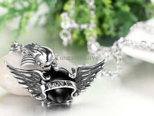 Angle Wings Heart Necklace - IsleOfGifts