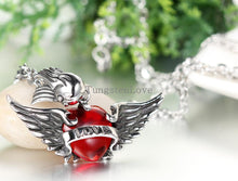 Load image into Gallery viewer, Angle Wings Heart Necklace - IsleOfGifts
