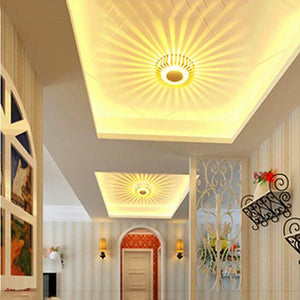 Led Wall Light with Round Sunflower Pattern - IsleOfGifts