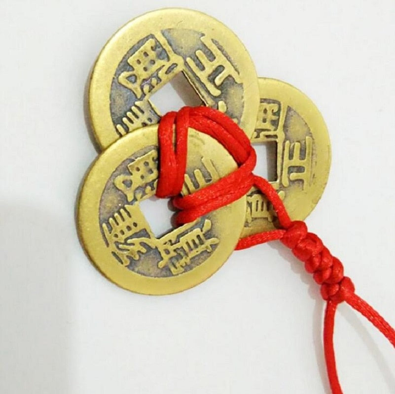 Feng Shui 3 Vintage Lucky Wealth Coin - IsleOfGifts
