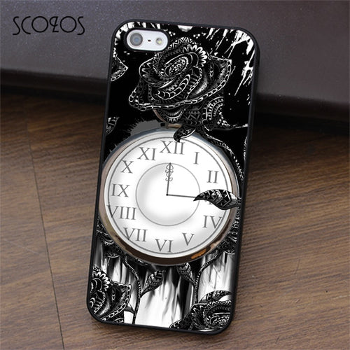 Black rose Gothic phone case for iphone - IsleOfGifts